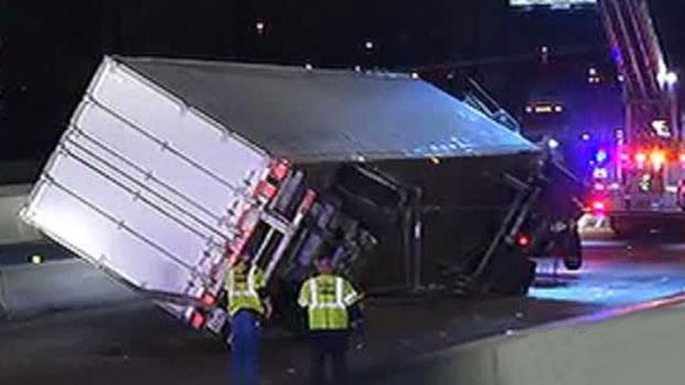 [DFW] Big-Rig Righted After Crash