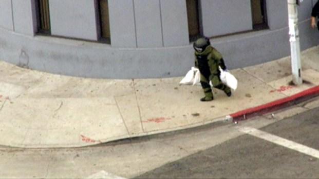 Bomb Squad Responds to East LA Bank