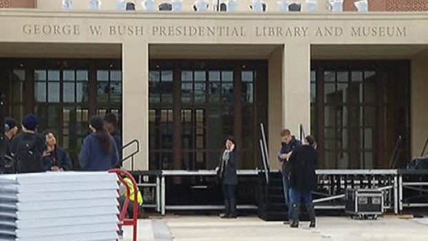 [DFW] Preps Underway for Bush Library Dedication