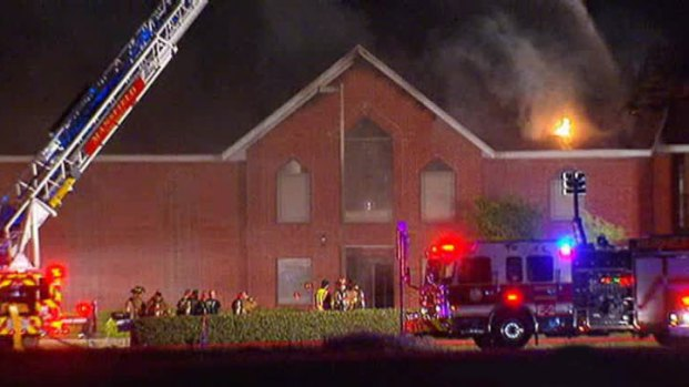 [DFW] Firefighters Investigate Mansfield Church Fire