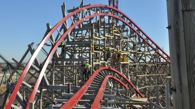 Photos: New Texas Giant at Six Flags Over Texas