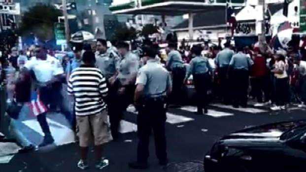[PHI] Officer Hits Woman: Slow Motion Video