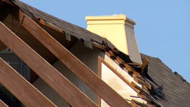 [DFW] Lancaster Church's Roof Damaged in Storm