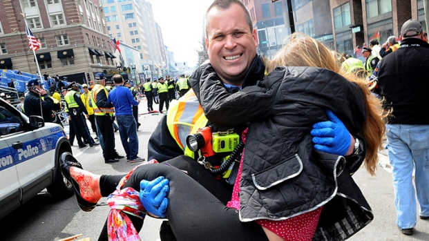 [NATL-V-HAR] Woman Injured in Boston Bombing Reunited With Rescuer