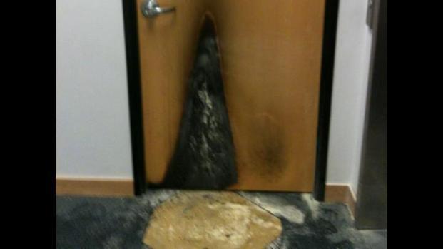 [DFW] Man Lights Firebombs Outside State Senator's Office