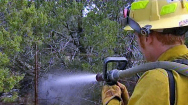 [DFW] Firefighters get upper hand on fires burning since Friday.