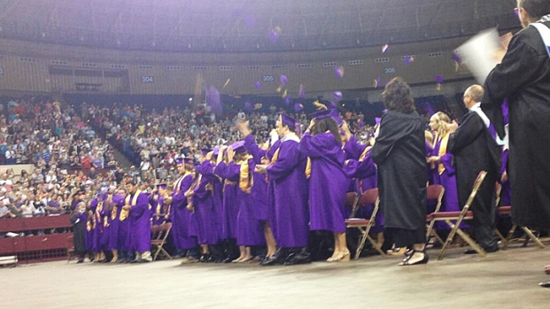 [DFW] Granbury Graduates Celebrate After Tornado Devastation