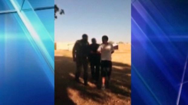 [DFW] RAW VIDEO: Hurst Police Arresting Teen In Park