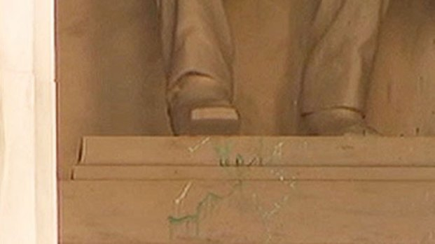 [DC] Lincoln Memorial Vandalism Clean Up