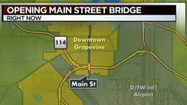 [DFW] Main Street Bridge in Grapevine Opens to Traffic
