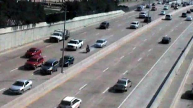 [DFW] NTTA Traffic Camera Captures Car Hitting Motorcyclist