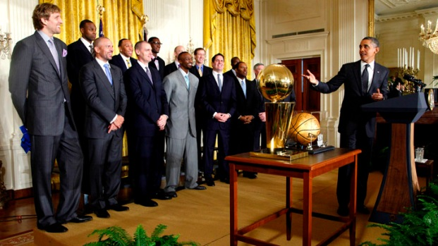 Mavs Meet Obama at White House