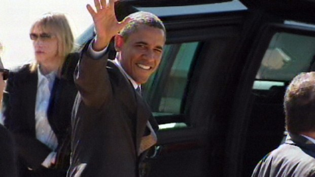 President Obama Lands at Love Field