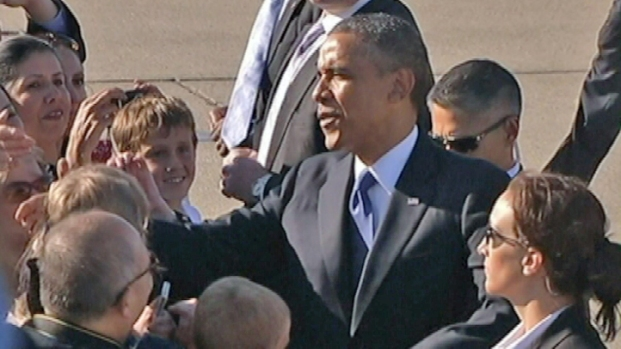 [BAY] RAW VIDEO: Pres. Obama Arrives in Bay Area