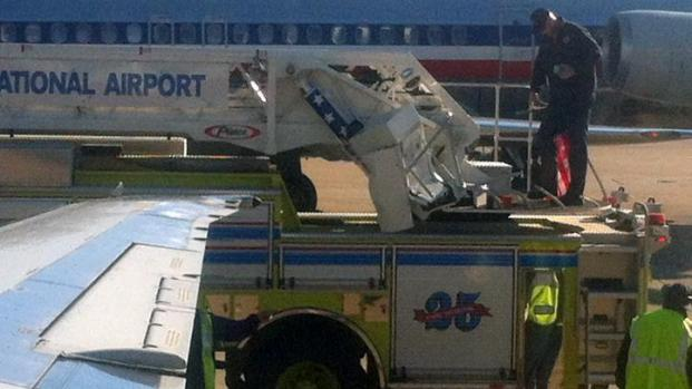 [DFW] Plane Hits Firetruck at DFW Airport