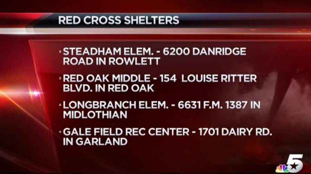 [DFW] American Red Cross Shelters