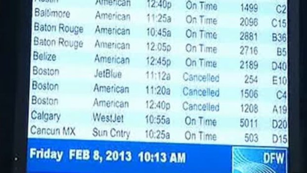 [DFW] NE Winter Storm Affecting Flights at DFW