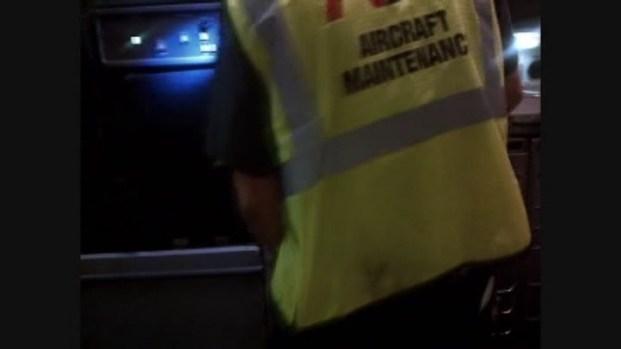 [MI] Raw Video: American Airlines Seat Repair