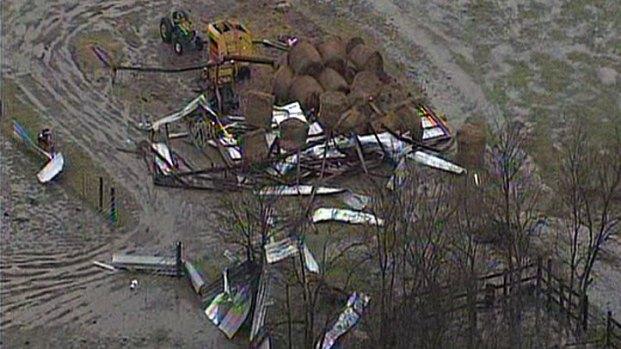 Images: Tornado Damage in Lamar County