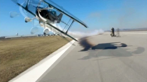 [DFW] Stunt Plane's Close Call With Photographer