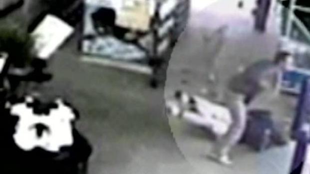 [DFW] Surveillance Video Shows Shoplifter Pushing Greeter