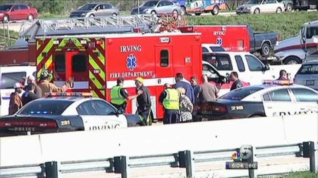 [DFW] Drivers Stop to Help Injured Bus Crash Passenger
