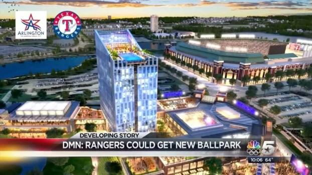 Rangers, City of Arlington Push for New Stadium
