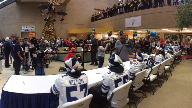 Cowboys Visit Children in North Texas Hospitals