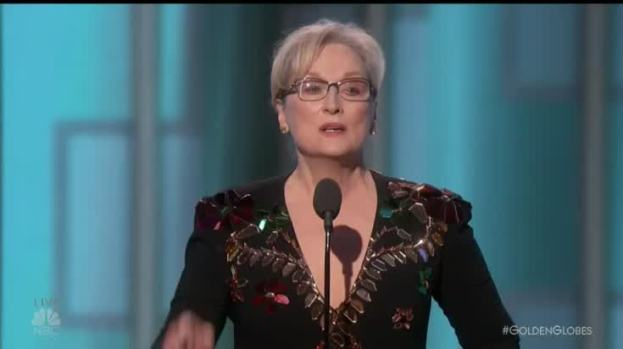 [NATL] Meryl Streep Rebukes Trump at Golden Globes