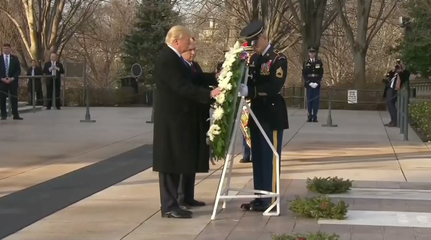 [NATL] Trump Visits Arlington for Wreath-Laying Ceremony