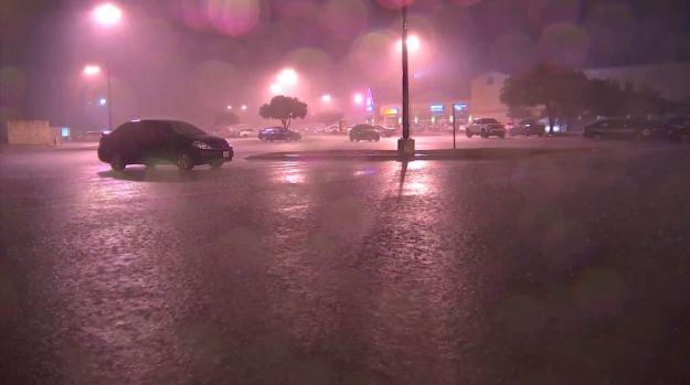 Rain Causes Slick Roads in Tarrant County