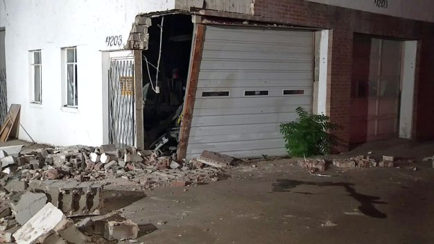 Driver Suspected of Crashing Into Building on Purpose
