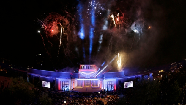 Lighting of Bush Center's Freedom Hall