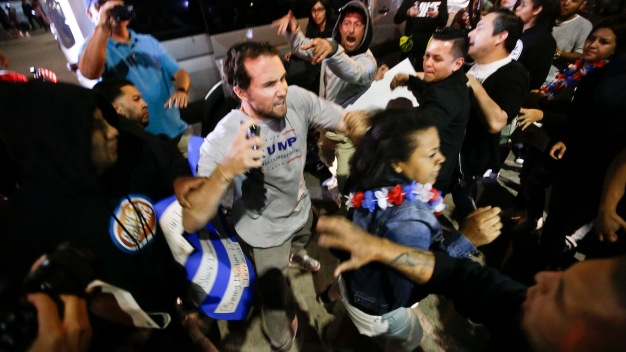 17 Arrested After Protests Erupt Outside Trump Rally