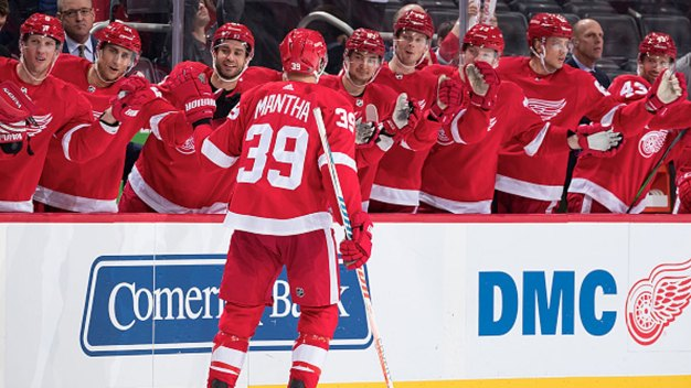 Anthony Mantha's 4th Goal Gives Red Wings Win Over Stars