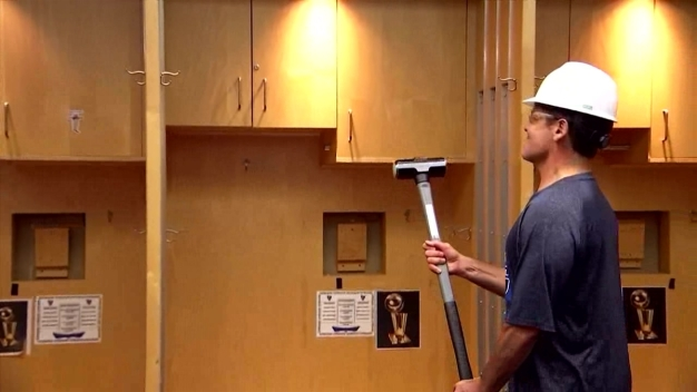Mavs Begin Demolition of Locker Room