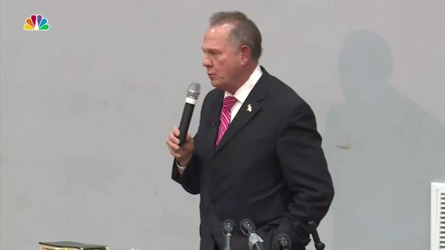 Senate Candidate Roy Moore Speaks at Baptist Church Amid Ongoing Scandal