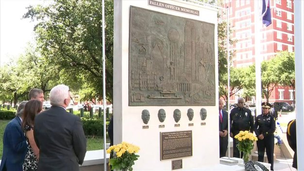Memorial Unveiled for 5 Officers Killed in July 2016 Ambush