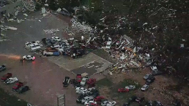 Canton Car Dealership Hard Hit by Tornado