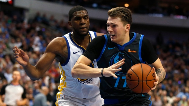 Doncic Leads Mavericks Over Short-Handed Warriors 112-109