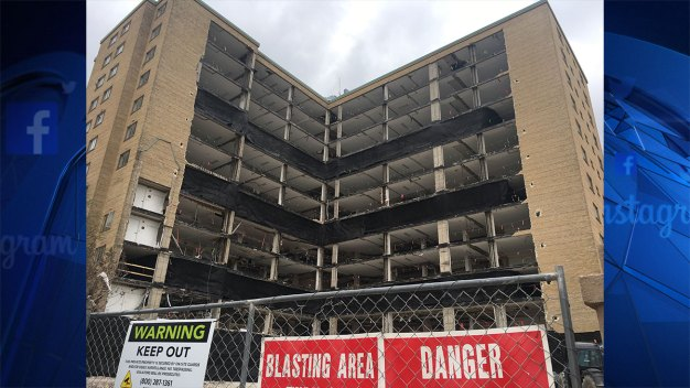 Implosion of Once Prominent Fort Worth High Rise