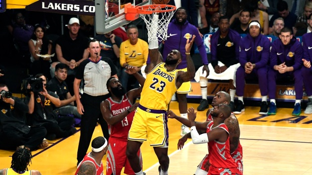 Lakers, Rockets Brawl as Lebron Loses Home Opener