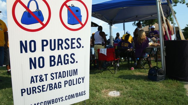 Cowboys, NFL Tighten Bag Policy at AT&T Stadium, Ford Center
