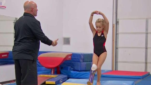 Girl Who Lost Foot in Accident Has Big Gymnastics Dream