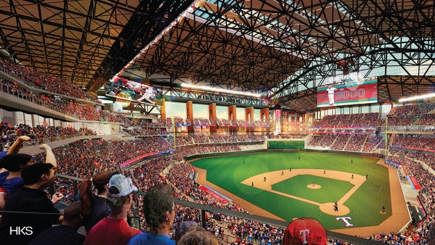 Texas Live!, New Ballpark Construction Moving Along
