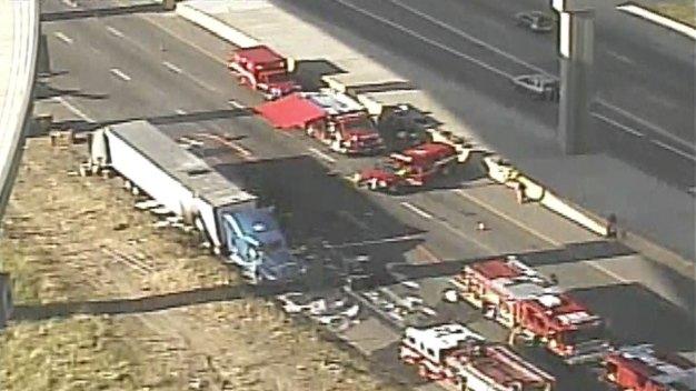 Tractor-Trailer Crash Shuts Down Loop 12 in Irving