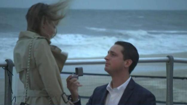 Couple's Engagement Caught on Cam During NJ Storm Coverage
