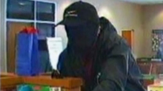 Mesh Mask Bandit Frustrates Bank Customers