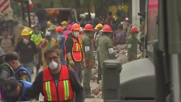 223 Dead in Mexico Quake, Child Found Alive, Trapped Among School Ruins