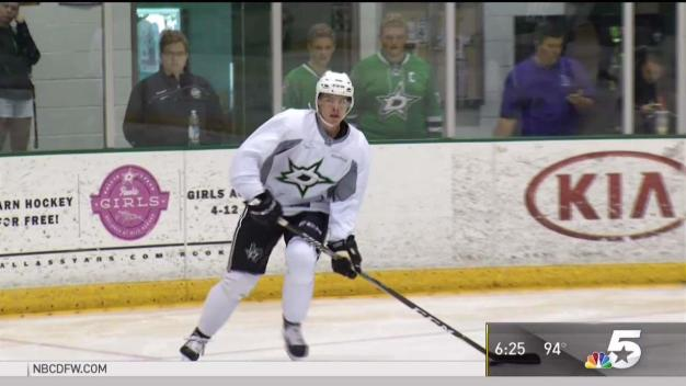 Heiskanen Hits the Ice at Stars Development Camp